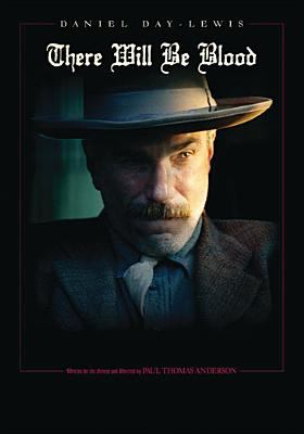 Image of the DVD cover of the movie There Will Be Blood showing actor Daniel Day Lewis