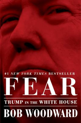 Book cover of Fear by Bob Woodward showing a photo of Donald Trump's face
