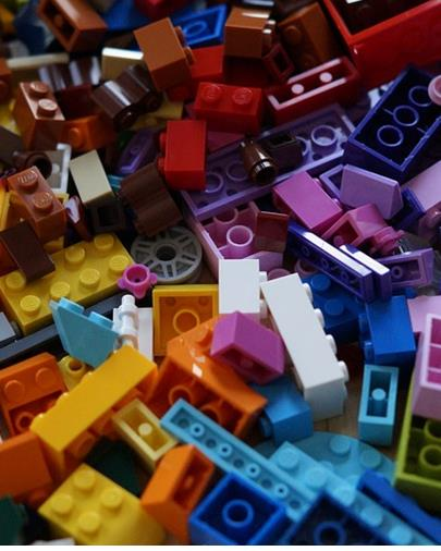 Photograph of colorful legos.