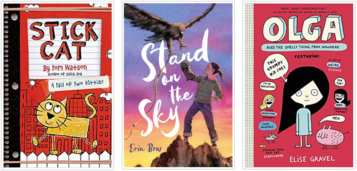 Three Books - Stick Cat and Stand on the Sky and Olga