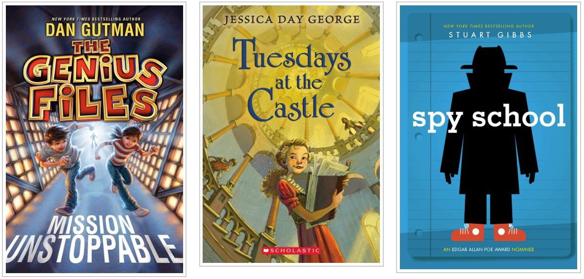 Three Books - The Genius Files and Tuesdays at the Castle and Spy School