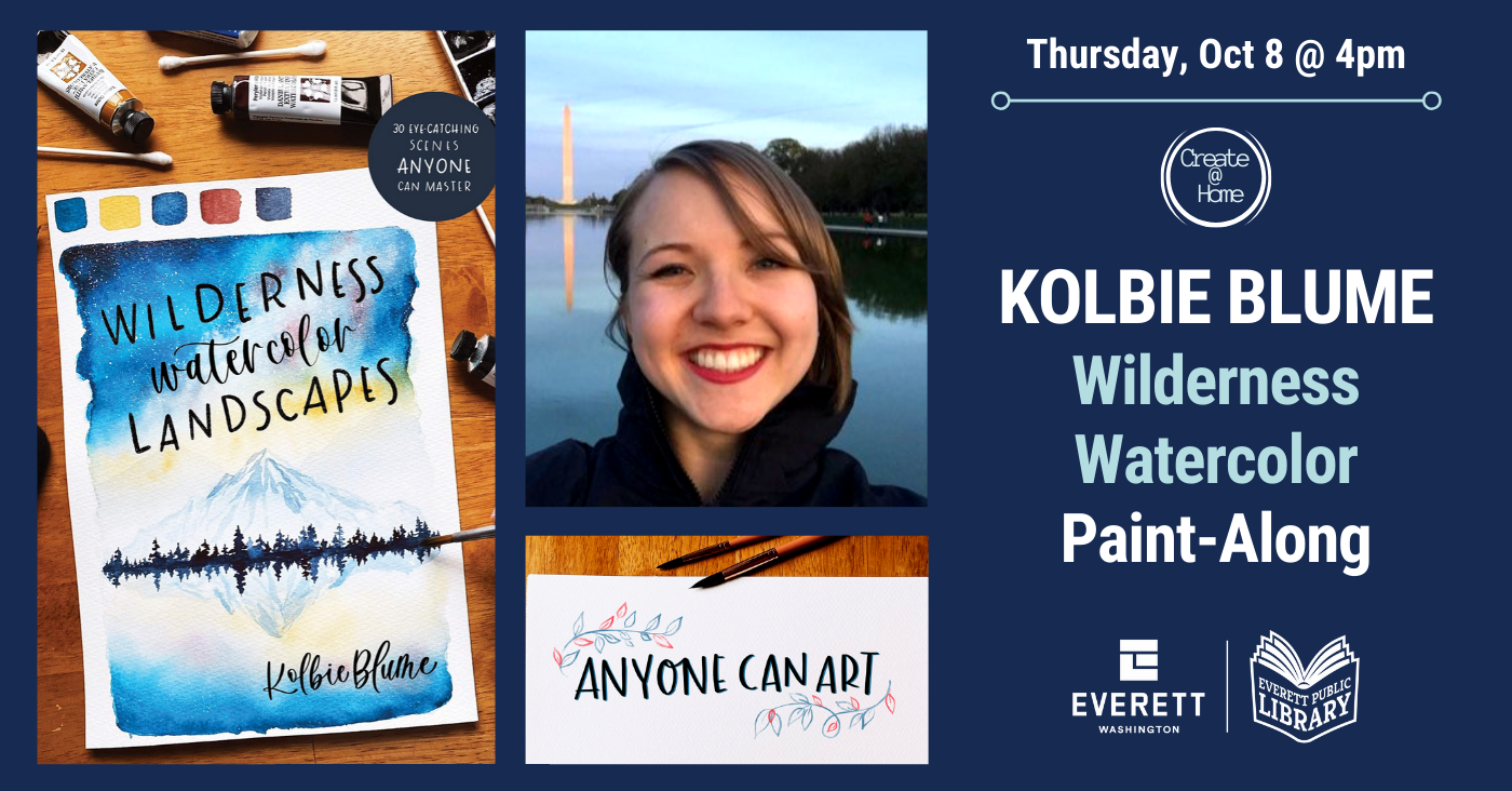 Kolbie Blume Wilderness Watercolor Paint-Along Thursday, October 8 at 4pm.