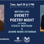 Event ad for Everett Poetry Night
