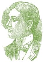 green etching portrait of Kirk