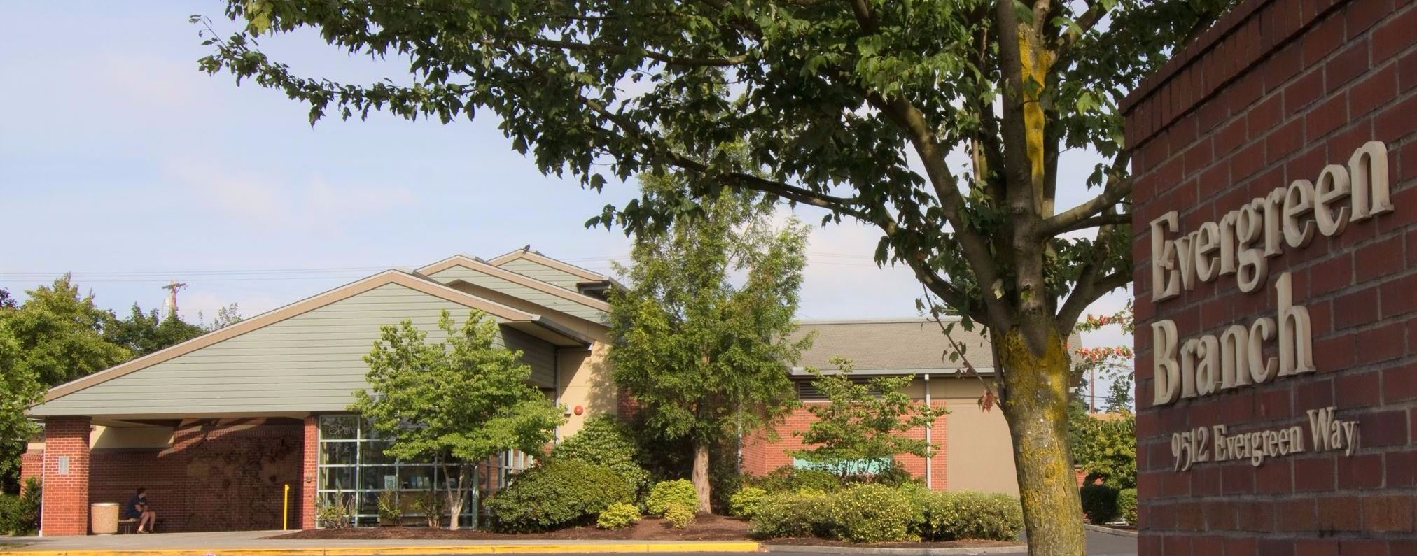 Color panorama photo of the Evergreen Branch
