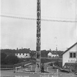 Historic photo of Tulalip Tribes story pole