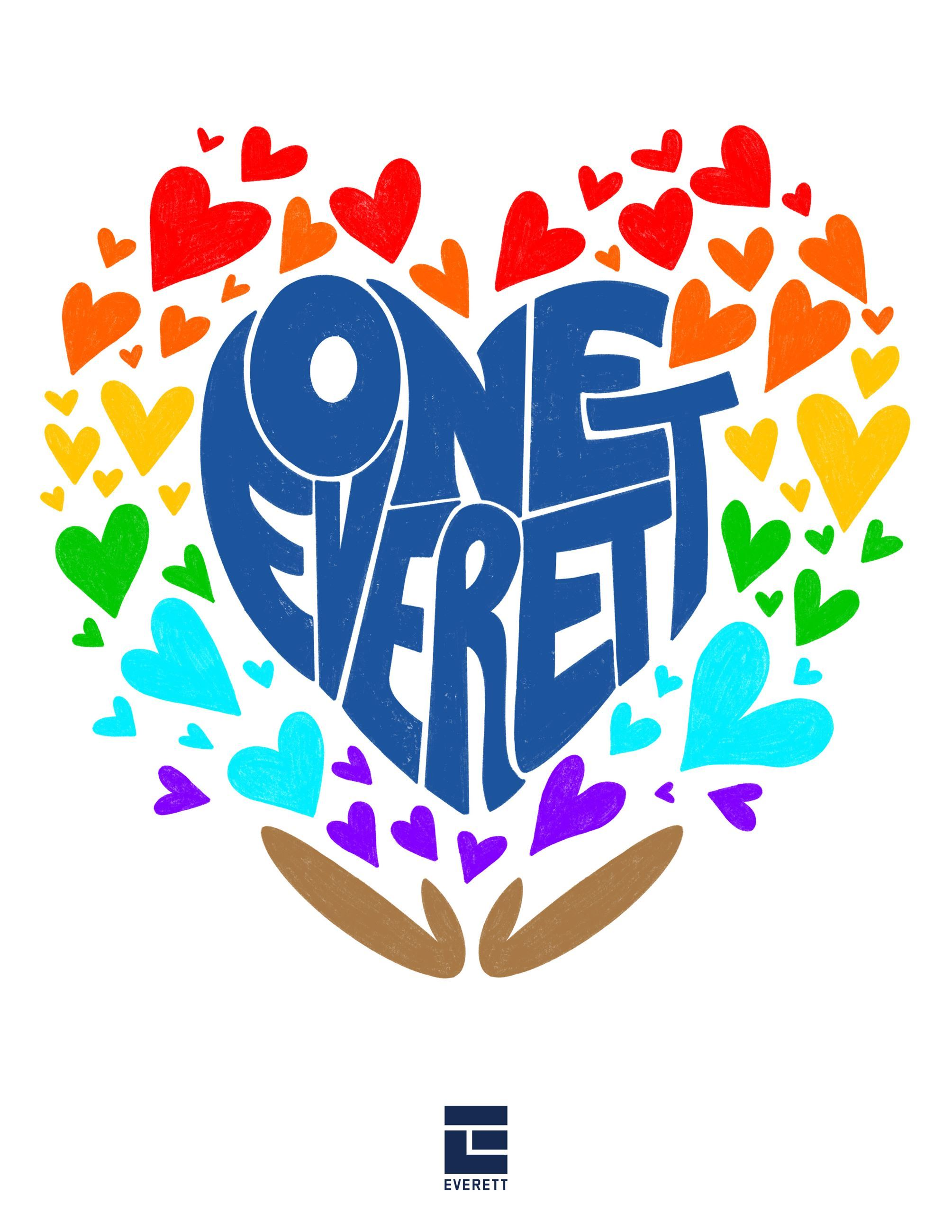 One Everett Logo, a colorful heart